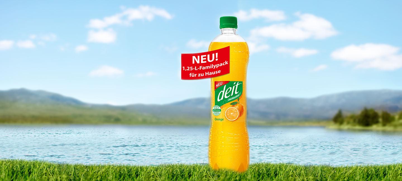 Jetzt neu! 1,25 Liter DEIT für den großen Durst!